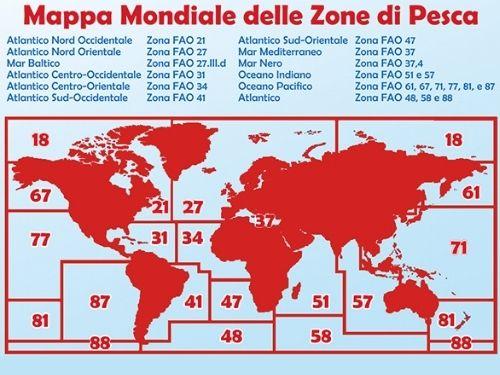 Mappa delle zone Fao